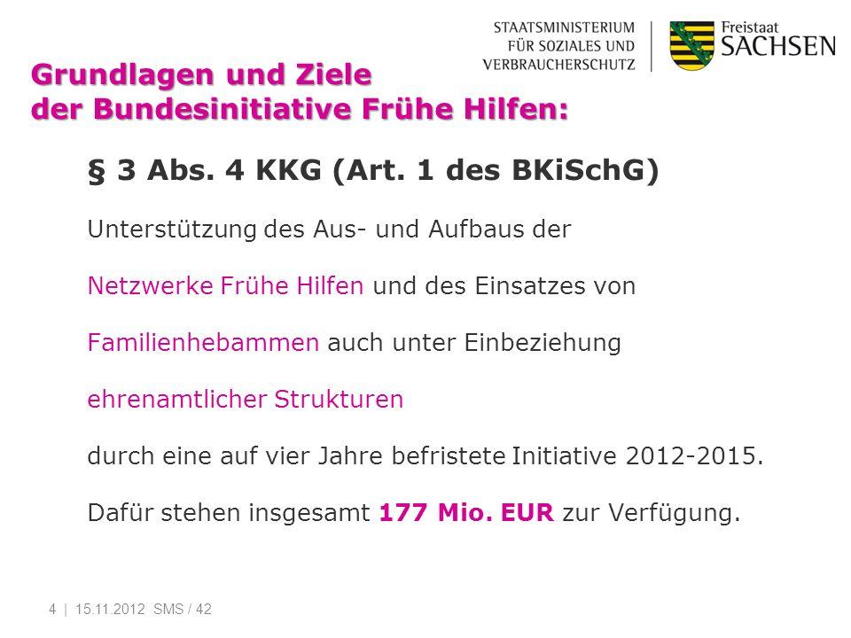 Grundlagen und Ziele der Bundesinitiative Frühe Hilfen: