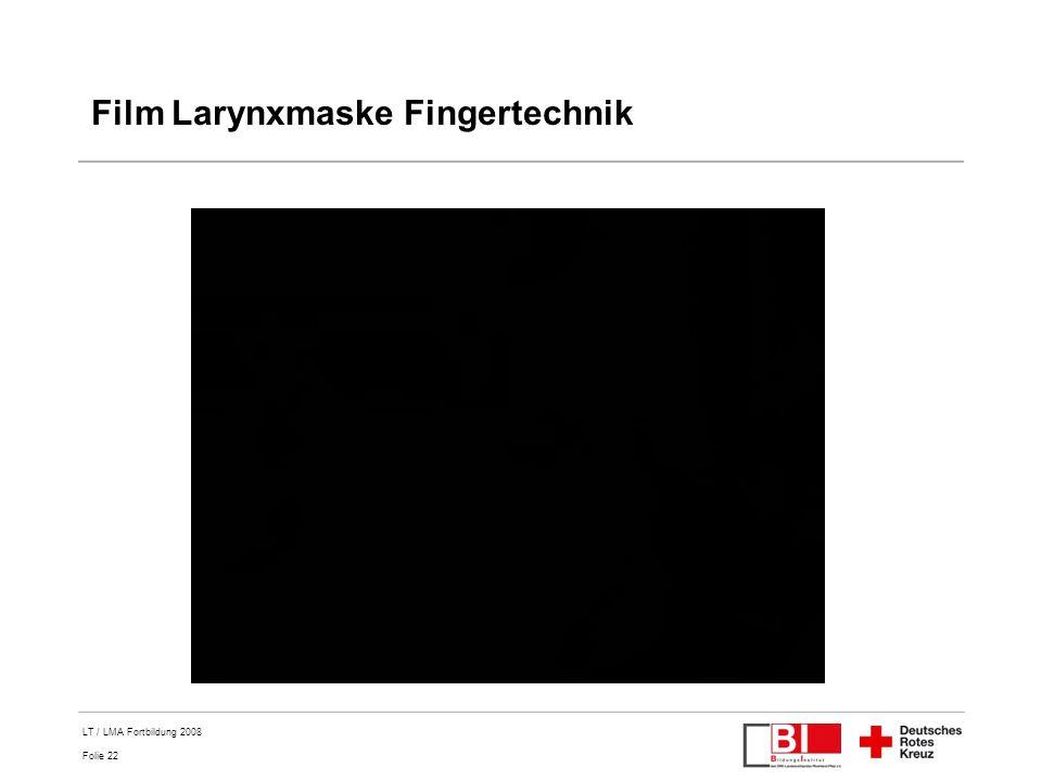 Film Larynxmaske Fingertechnik