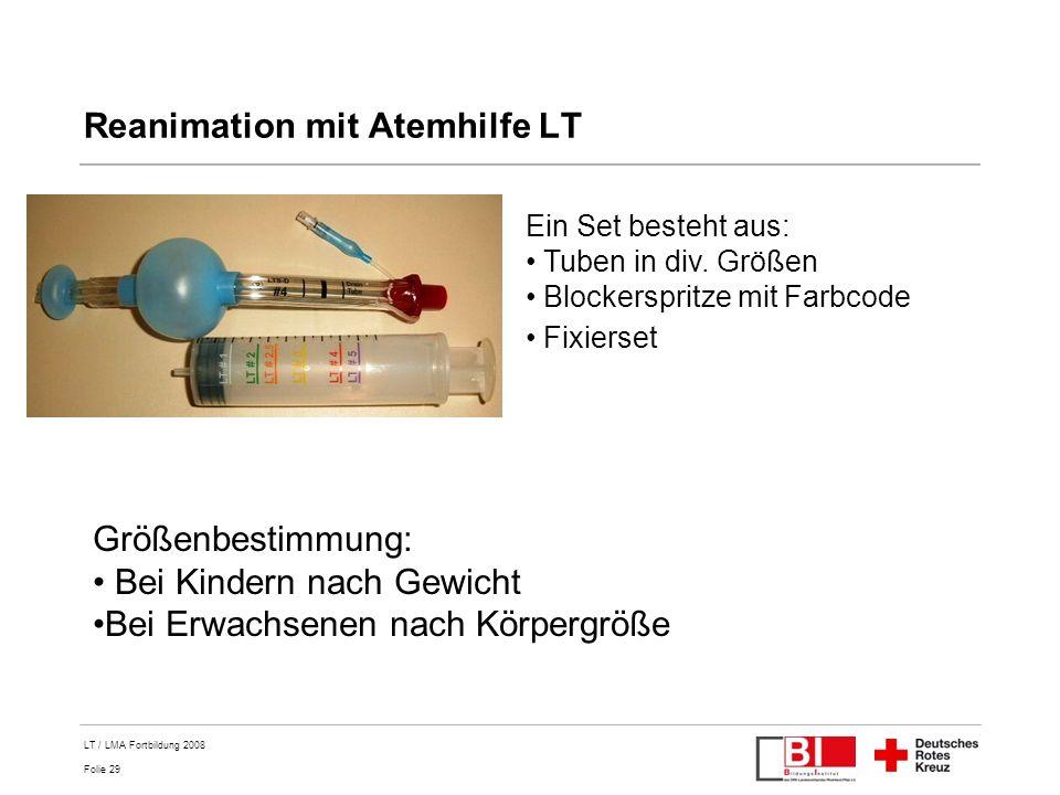Reanimation mit Atemhilfe LT