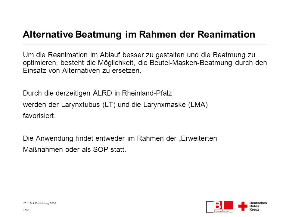 Alternative Beatmung im Rahmen der Reanimation