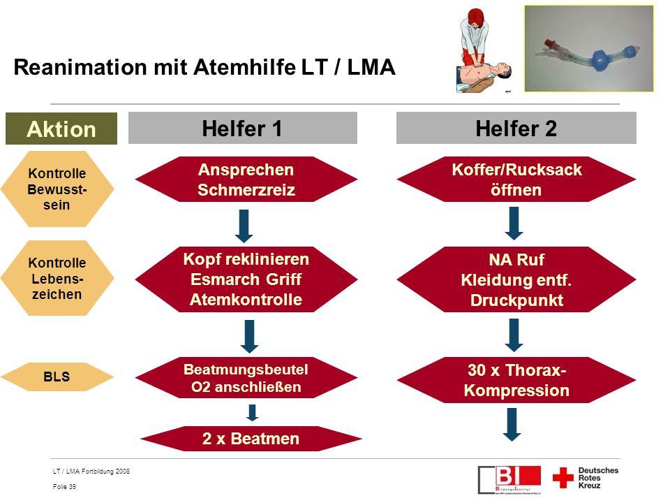 Reanimation mit Atemhilfe LT / LMA