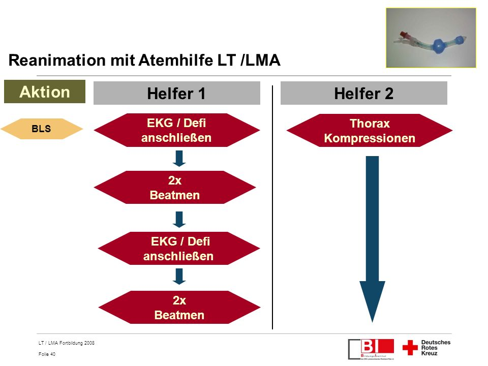 Reanimation mit Atemhilfe LT /LMA