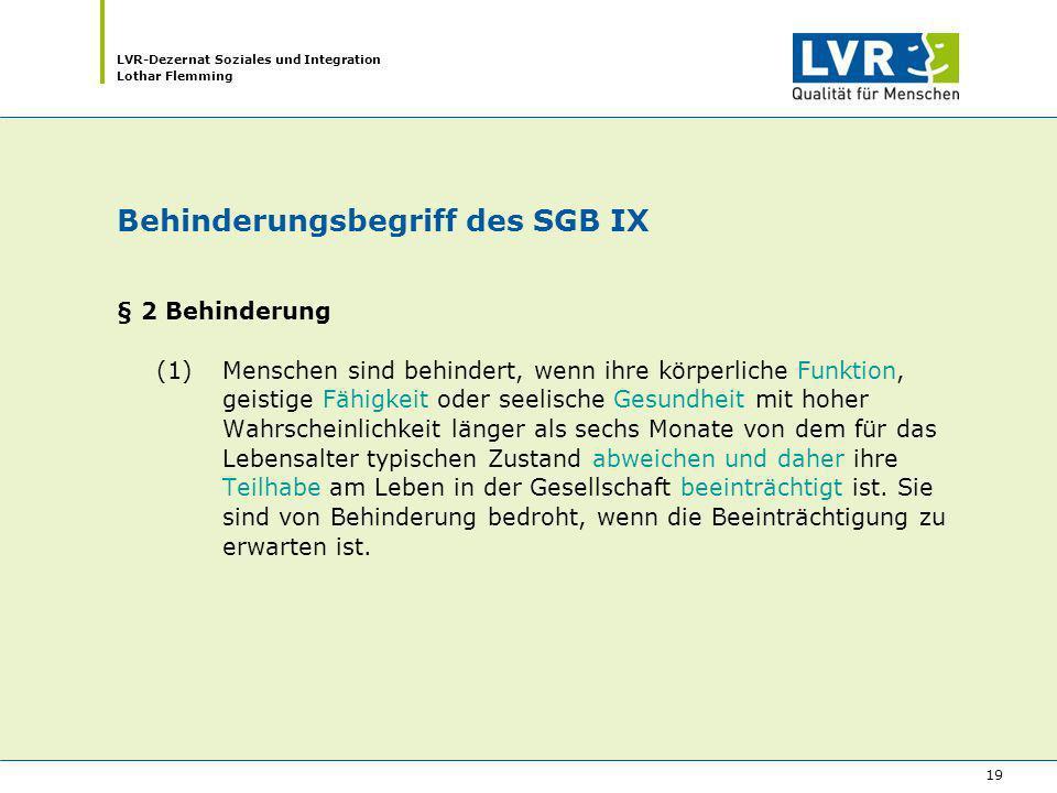Behinderungsbegriff des SGB IX