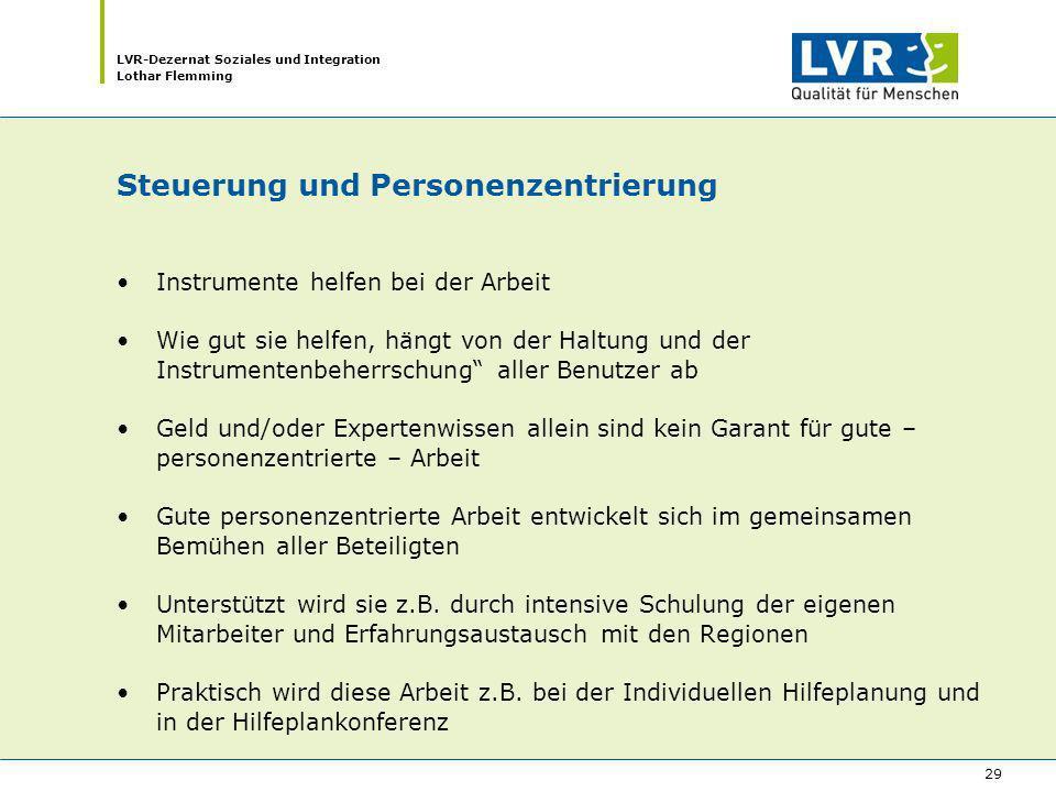 Steuerung und Personenzentrierung