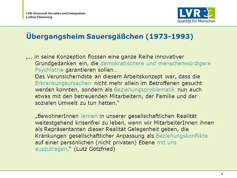 Übergangsheim Sauersgäßchen (1973-1993)