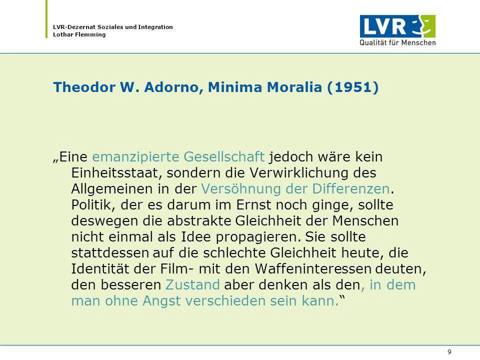 Theodor W. Adorno, Minima Moralia (1951)