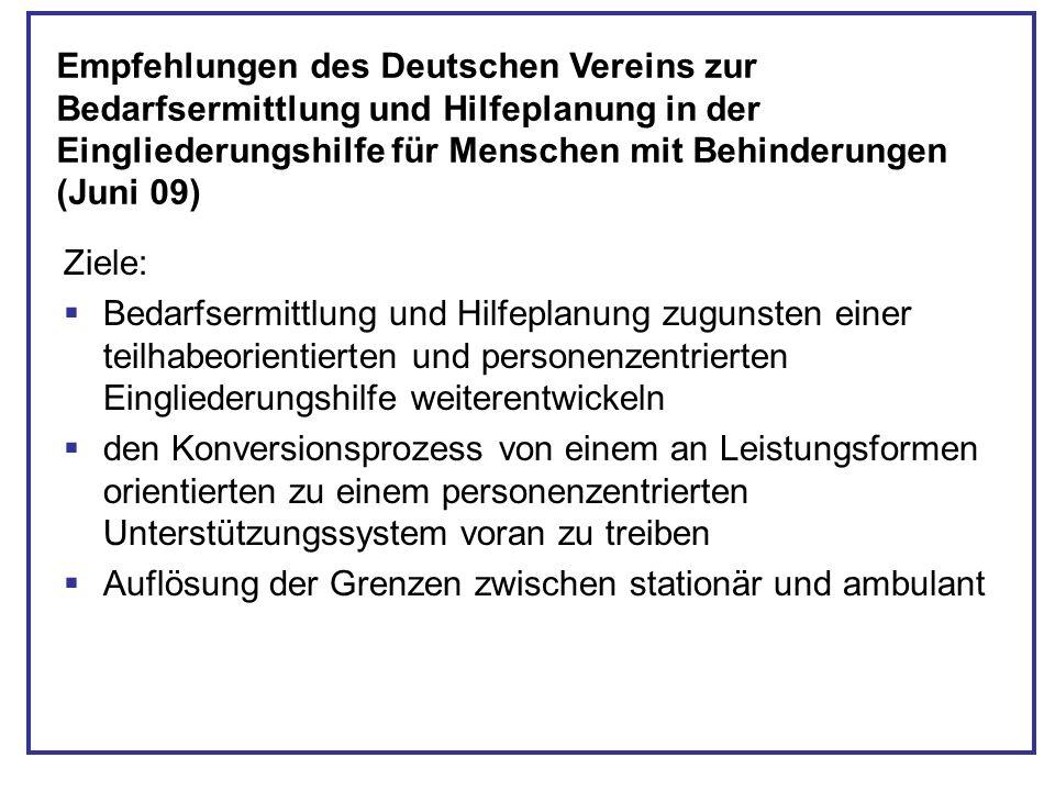 Empfehlungen des Deutschen Vereins zur