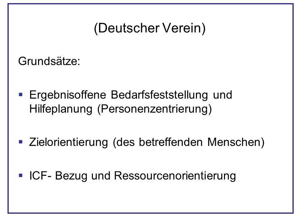 (Deutscher Verein) Grundsätze: