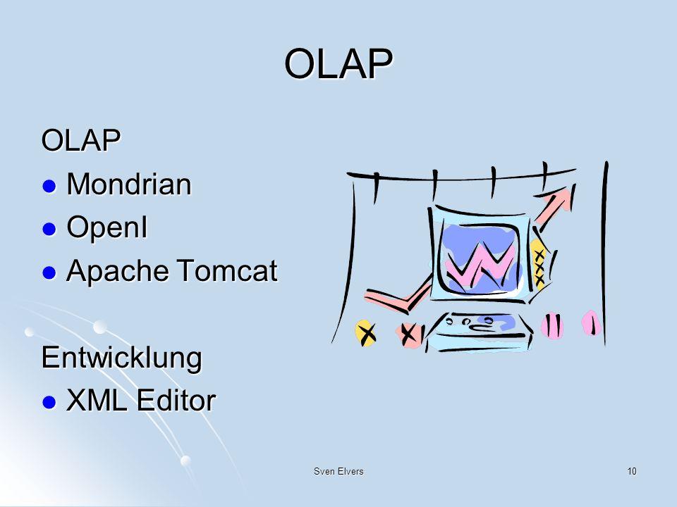 OLAP OLAP Mondrian OpenI Apache Tomcat Entwicklung XML Editor