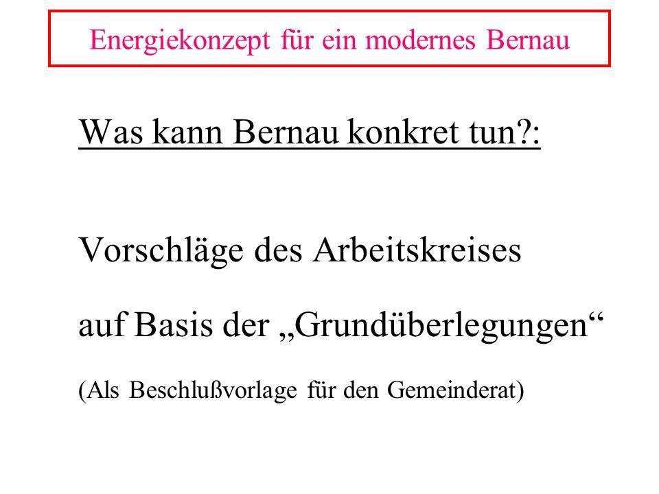 Energiekonzept für ein modernes Bernau