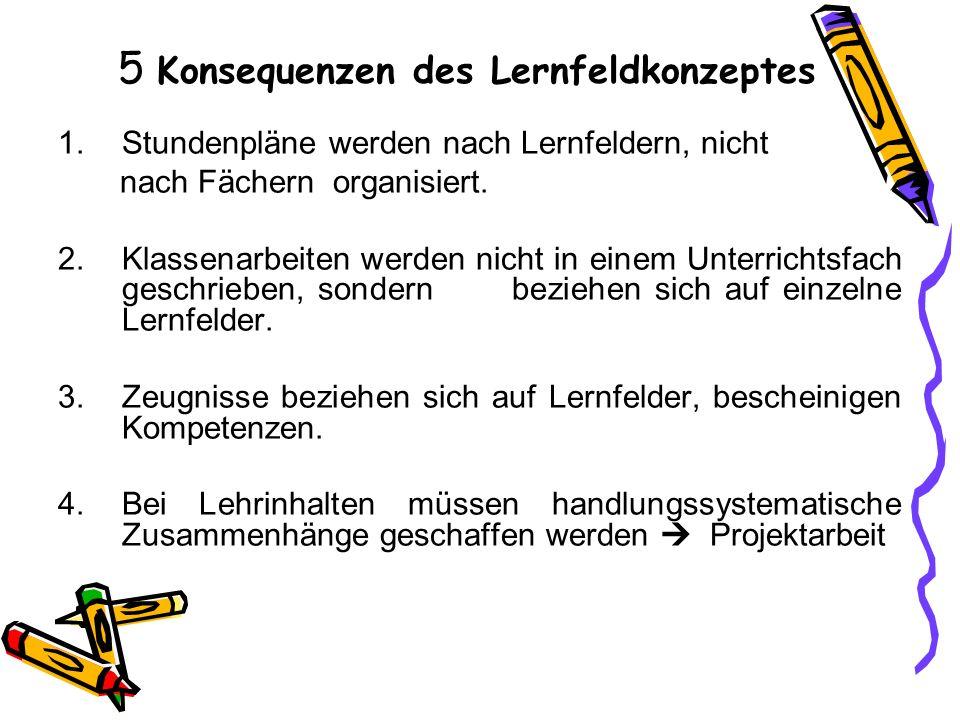 5 Konsequenzen des Lernfeldkonzeptes