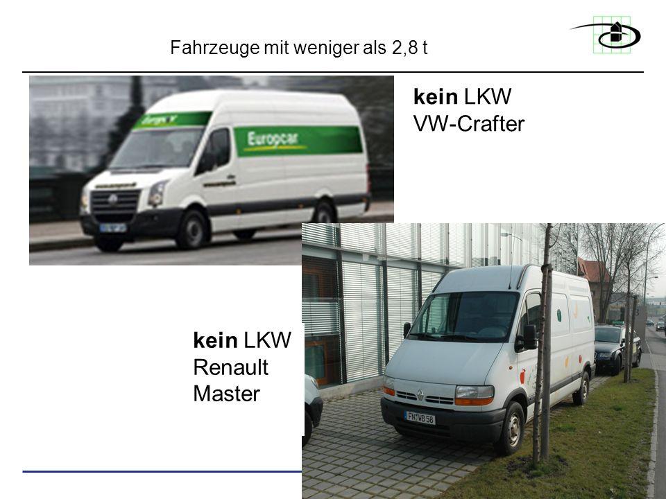 kein LKW VW-Crafter kein LKW Renault Master