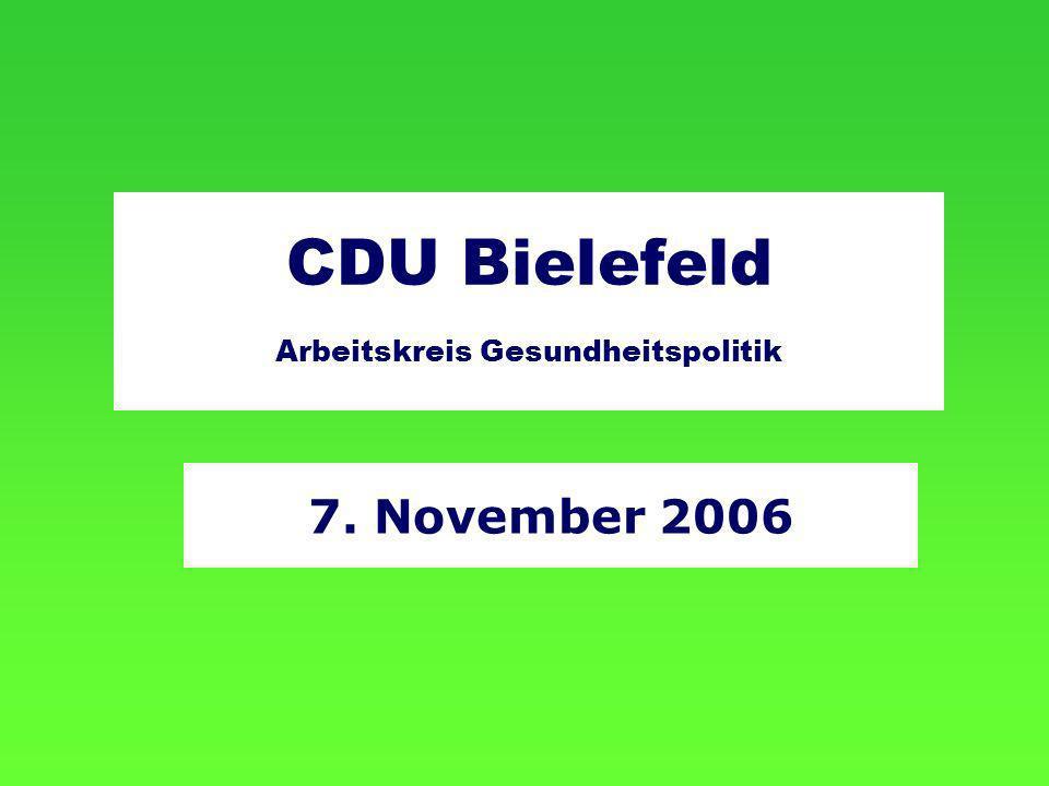 CDU Bielefeld Arbeitskreis Gesundheitspolitik