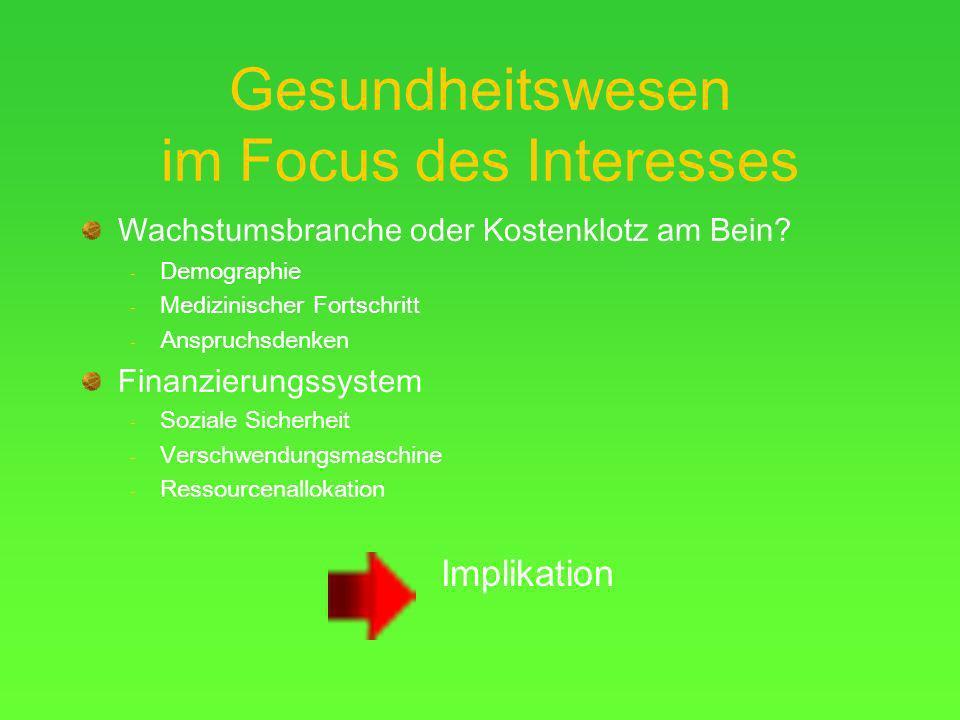 Gesundheitswesen im Focus des Interesses