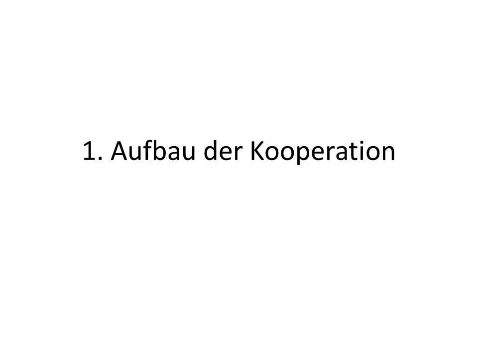 1. Aufbau der Kooperation