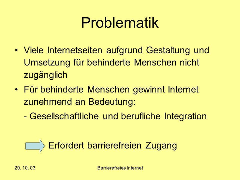Barrierefreies Internet