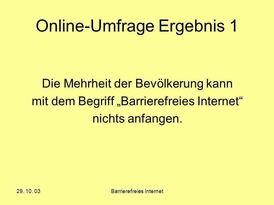 Online-Umfrage Ergebnis 1