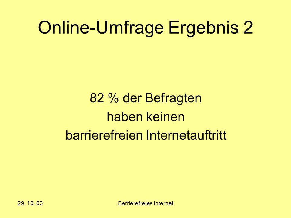 Online-Umfrage Ergebnis 2