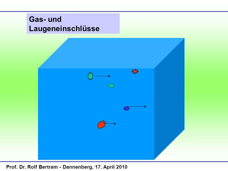 Gas- und Laugeneinschlüsse