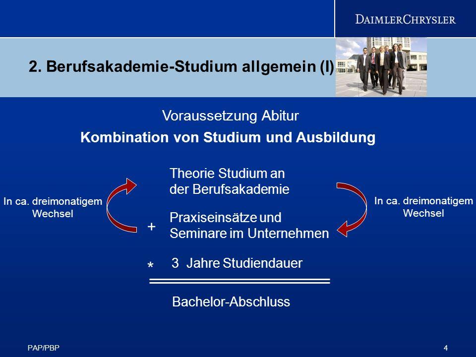 2. Berufsakademie-Studium allgemein (I)