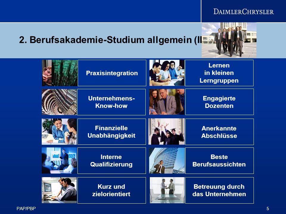 2. Berufsakademie-Studium allgemein (II)