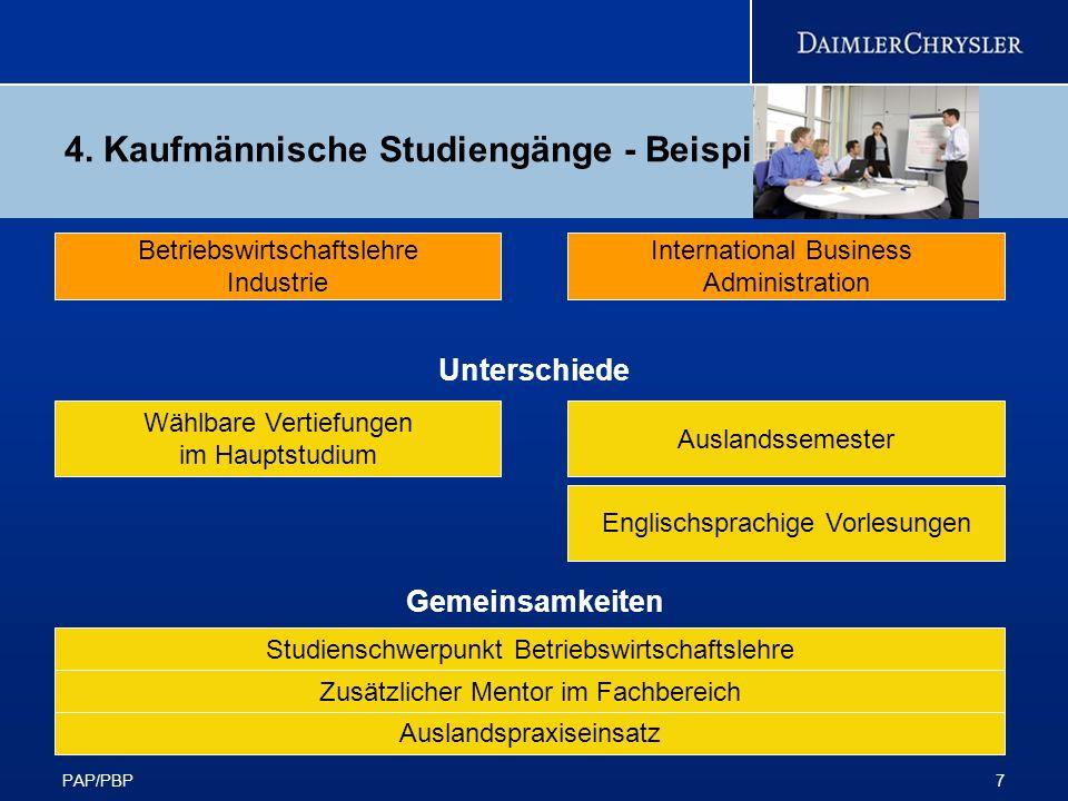 4. Kaufmännische Studiengänge - Beispiele