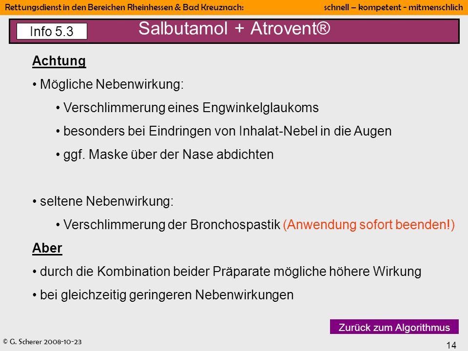 Salbutamol + Atrovent®