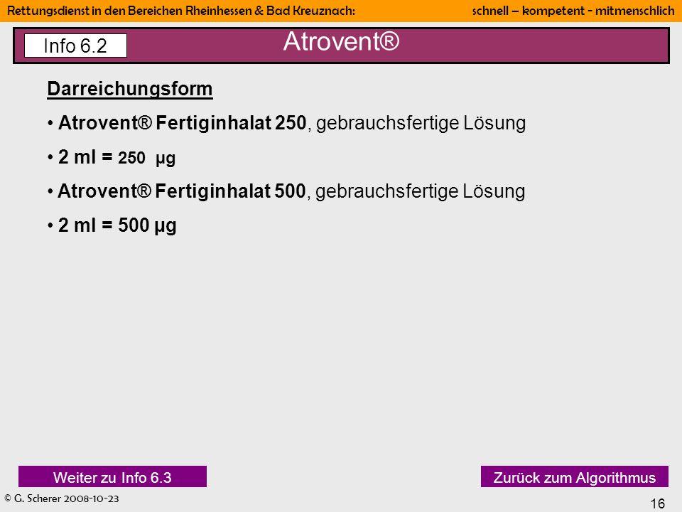 Atrovent® Info 6.2 Darreichungsform