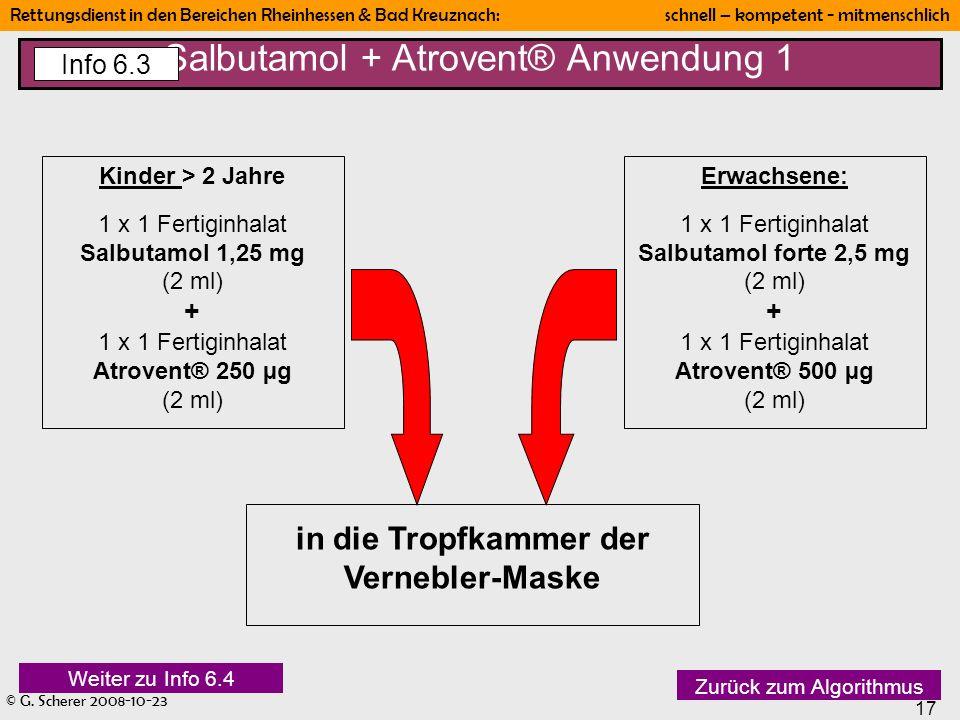 Salbutamol + Atrovent® Anwendung 1