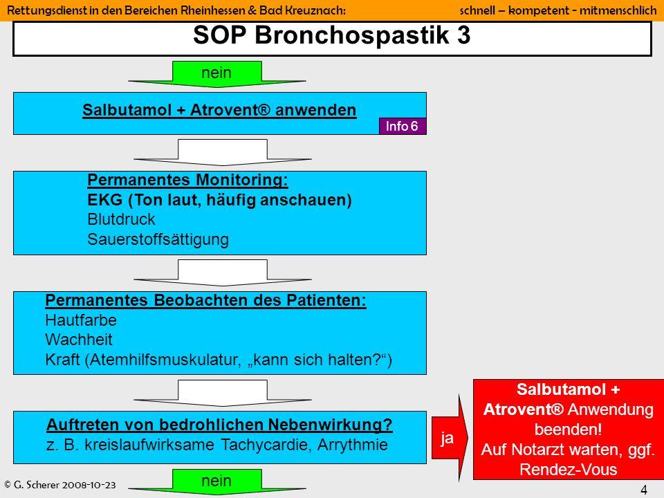 SOP Bronchospastik 3 nein Salbutamol + Atrovent® anwenden