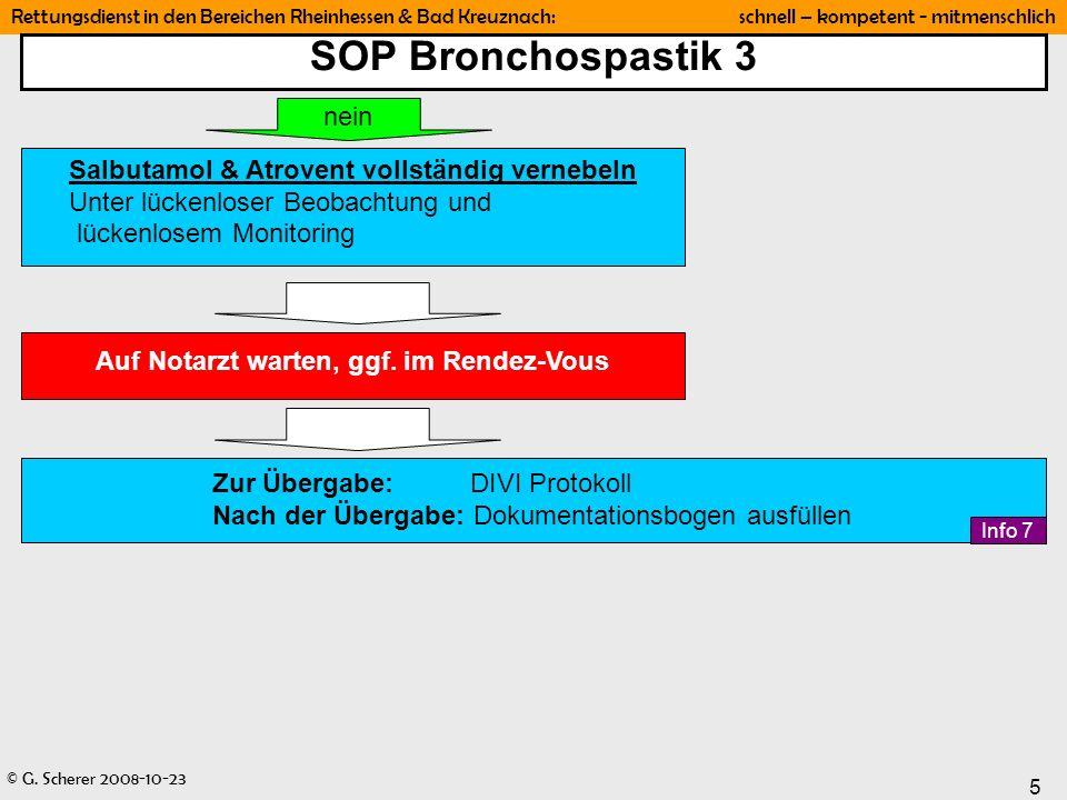 SOP Bronchospastik 3 nein Salbutamol & Atrovent vollständig vernebeln