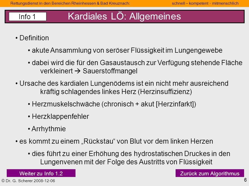 Kardiales LÖ: Allgemeines