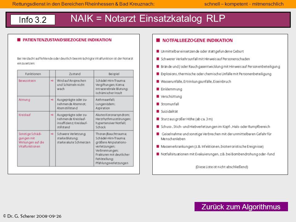 NAIK = Notarzt Einsatzkatalog RLP