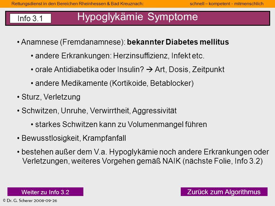 Hypoglykämie Symptome