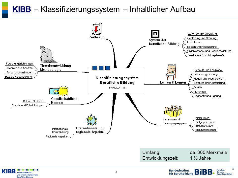 KIBB – Klassifizierungssystem – Inhaltlicher Aufbau