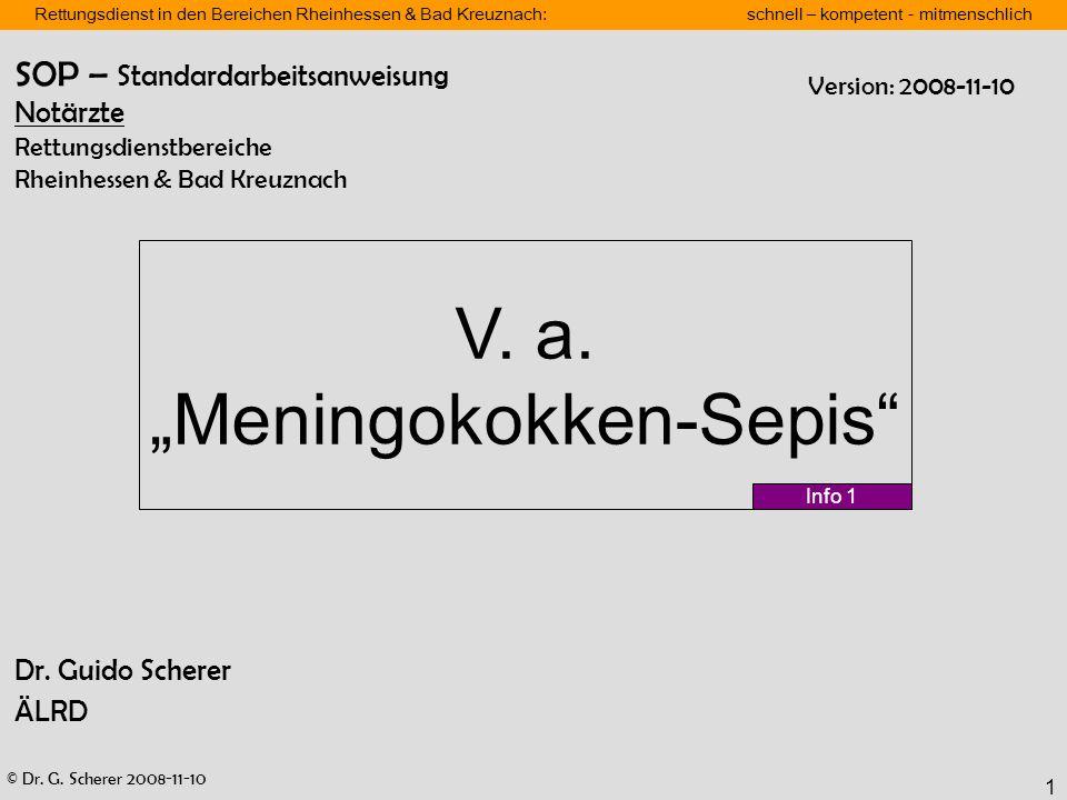 "V. a. ""Meningokokken-Sepis"