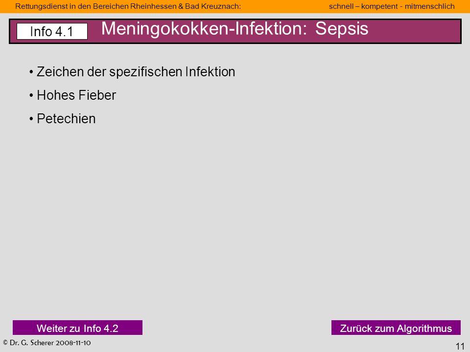 Meningokokken-Infektion: Sepsis