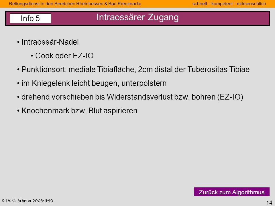 Intraossärer Zugang Info 5 Intraossär-Nadel Cook oder EZ-IO