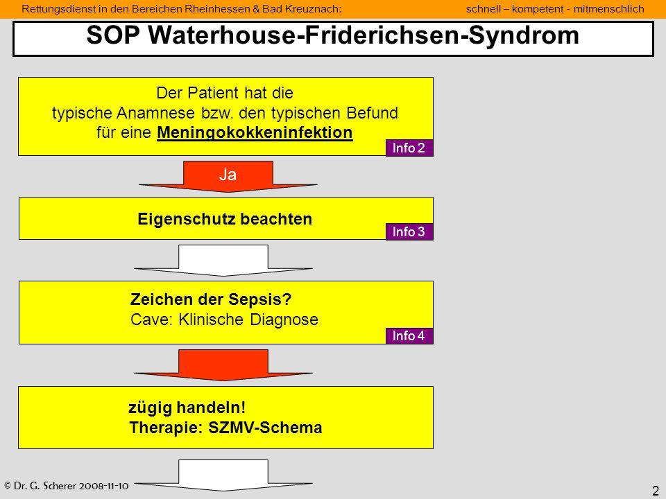 SOP Waterhouse-Friderichsen-Syndrom