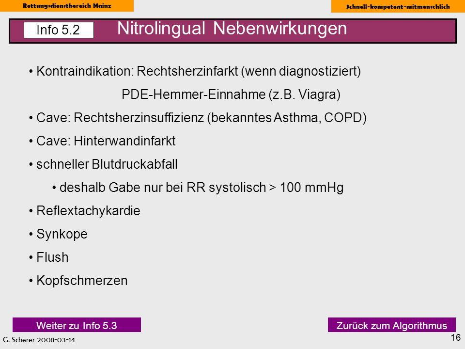 Nitrolingual Nebenwirkungen