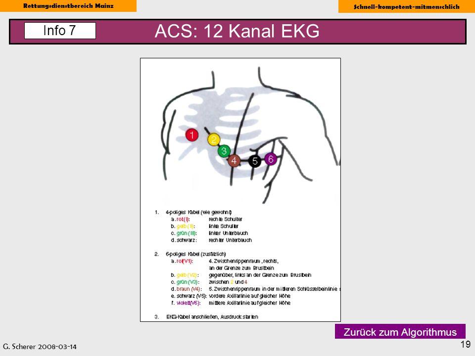 ACS: 12 Kanal EKG Info 7 Zurück zum Algorithmus