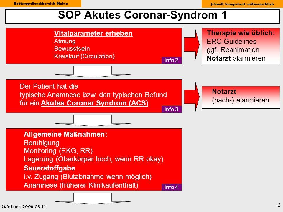 SOP Akutes Coronar-Syndrom 1