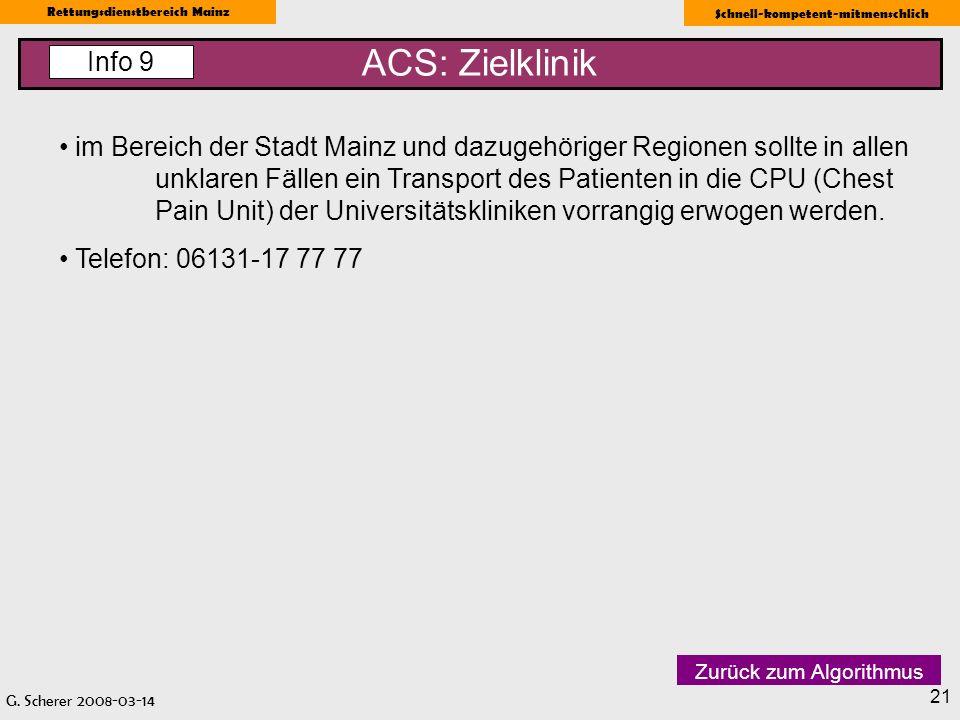 ACS: Zielklinik Info 9.