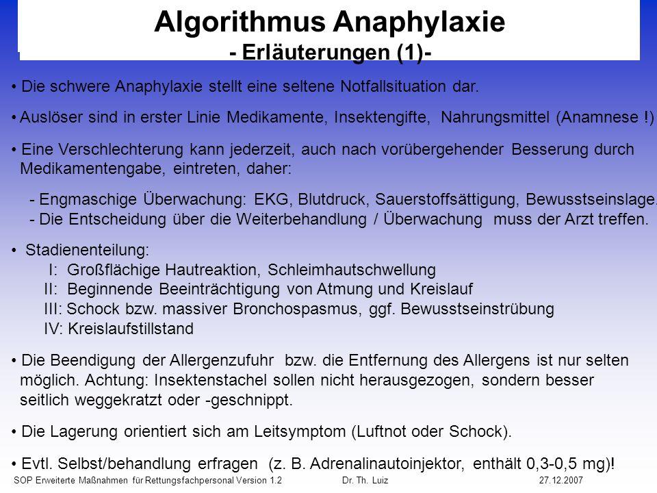 Algorithmus Anaphylaxie
