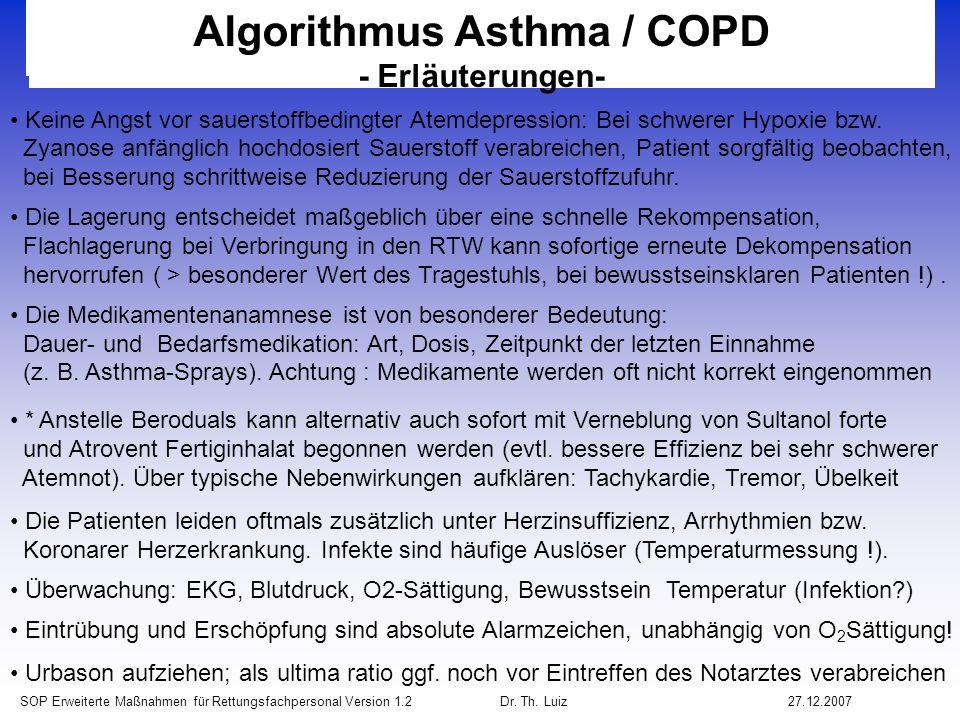 Algorithmus Asthma / COPD