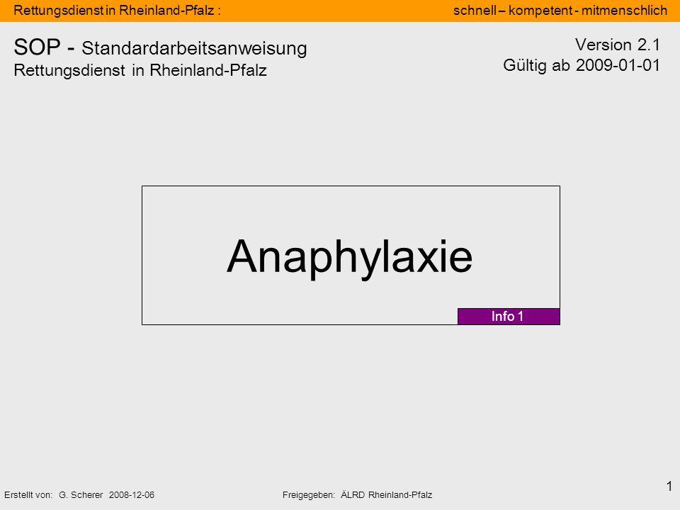 SOP - Standardarbeitsanweisung Rettungsdienst in Rheinland-Pfalz