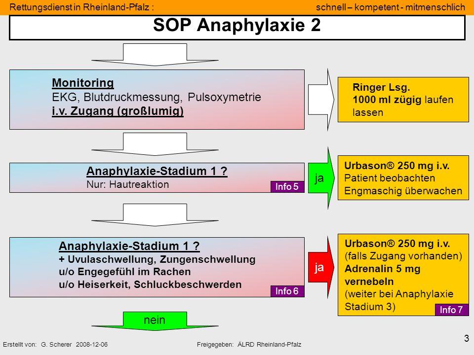 SOP Anaphylaxie 2 Monitoring EKG, Blutdruckmessung, Pulsoxymetrie