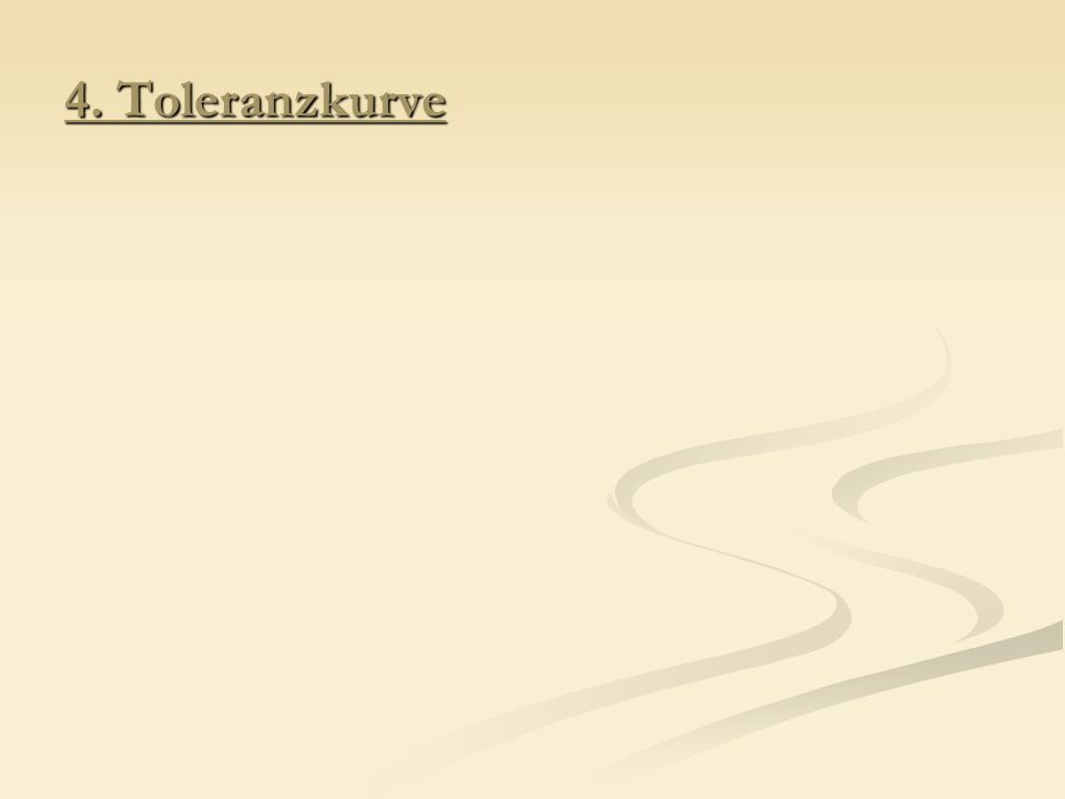 4. Toleranzkurve