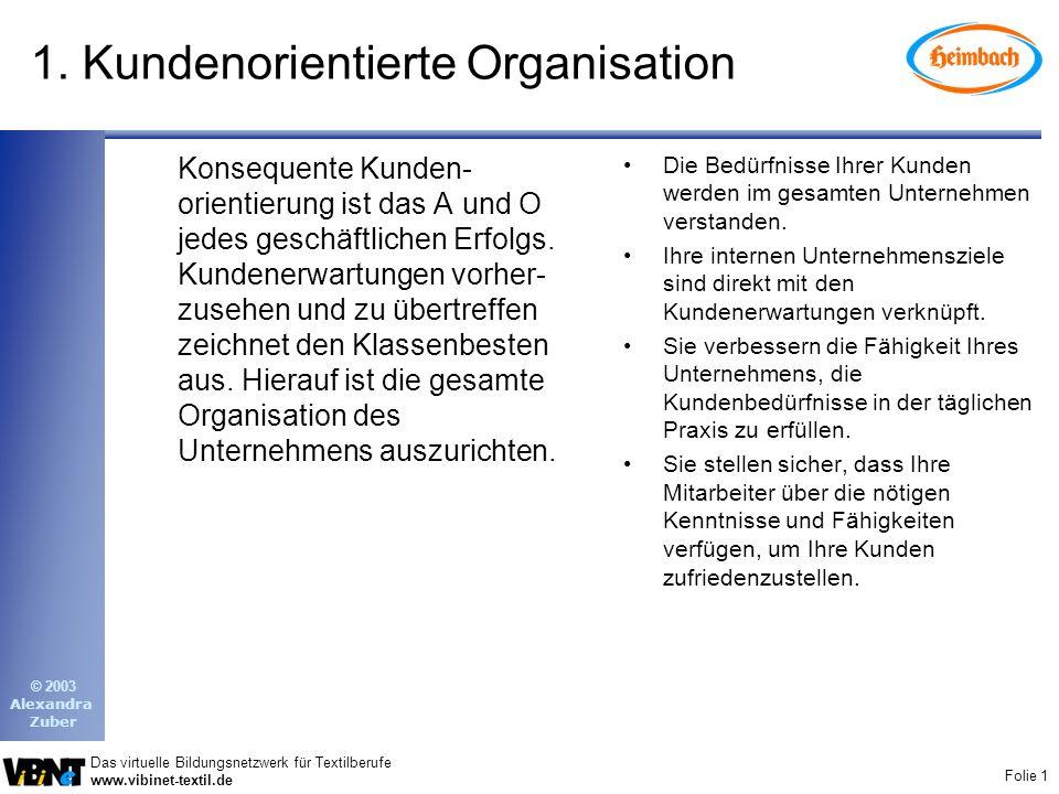 1. Kundenorientierte Organisation