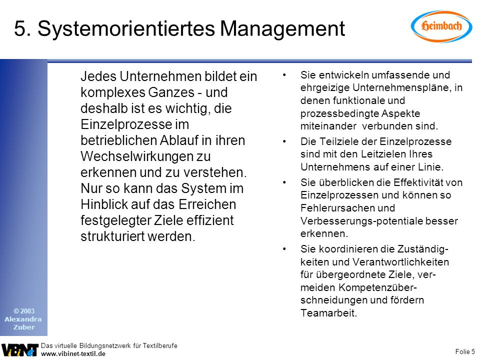 5. Systemorientiertes Management